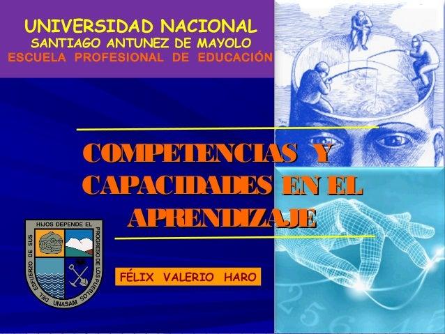UNIVERSIDAD NACIONAL SANTIAGO ANTUNEZ DE MAYOLO  ESCUELA PROFESIONAL DE EDUCACIÓN MINISTERIO DE EDUCACIÓN  COMPETENCIAS Y ...
