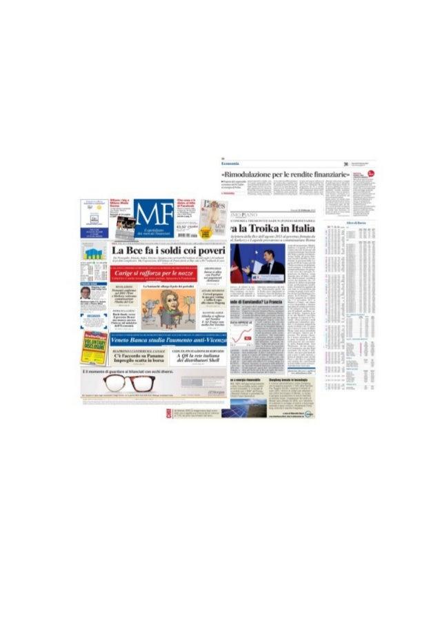 TREMONTI ALL'EVENTO ORGANIZZATO DA CAPUTI CON PRELIOS MF - Marcello Bussi -  21/02/2014 pg. 1  ed. Nazionale  Tremonti con...