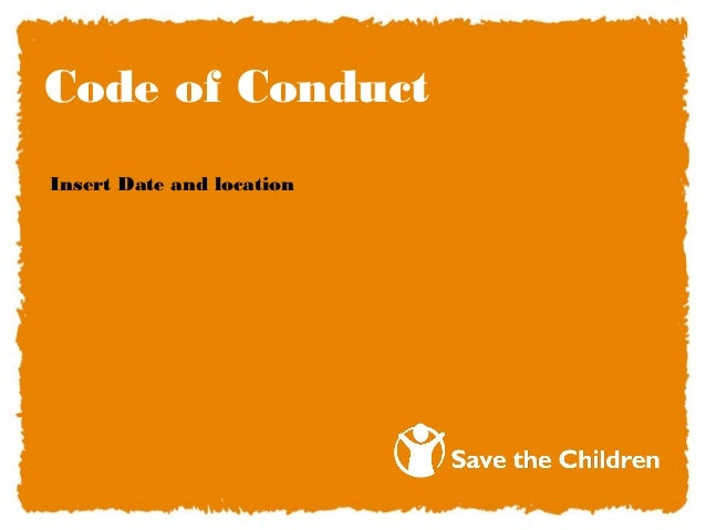 Code of ConductInsert Date and location
