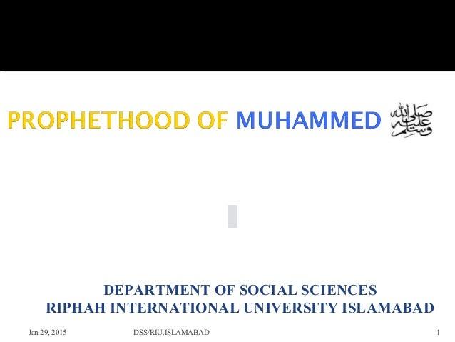 Jan 29, 2015 1 DEPARTMENT OF SOCIAL SCIENCES RIPHAH INTERNATIONAL UNIVERSITY ISLAMABAD DSS/RIU.ISLAMABAD