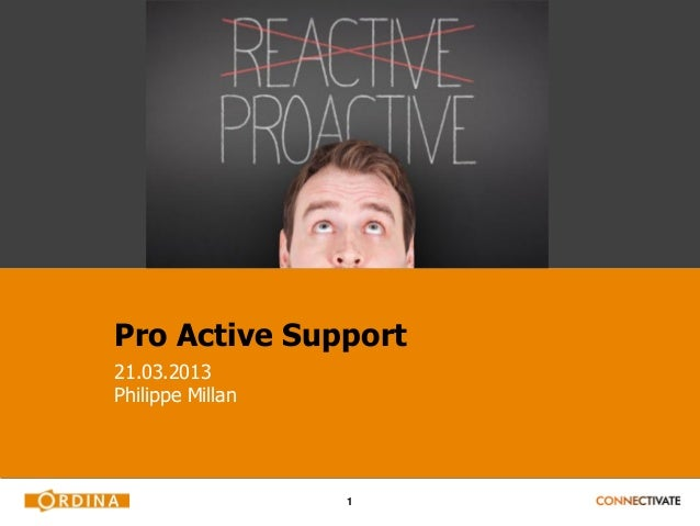 Ordina Planning & Scheduling Day - APS - pro activesupport