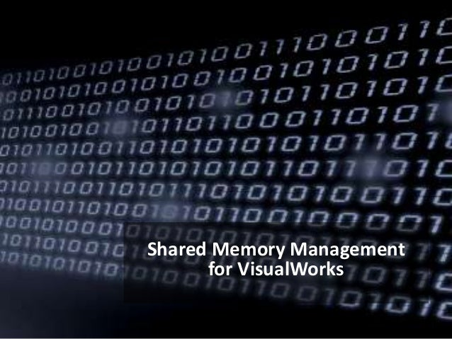 Shared Memory Management for VisualWorks
