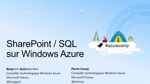SharePoint et SQL Server sur Windows Azure