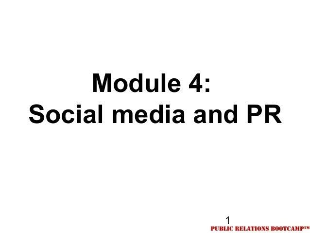 1Module 4:Social media and PR