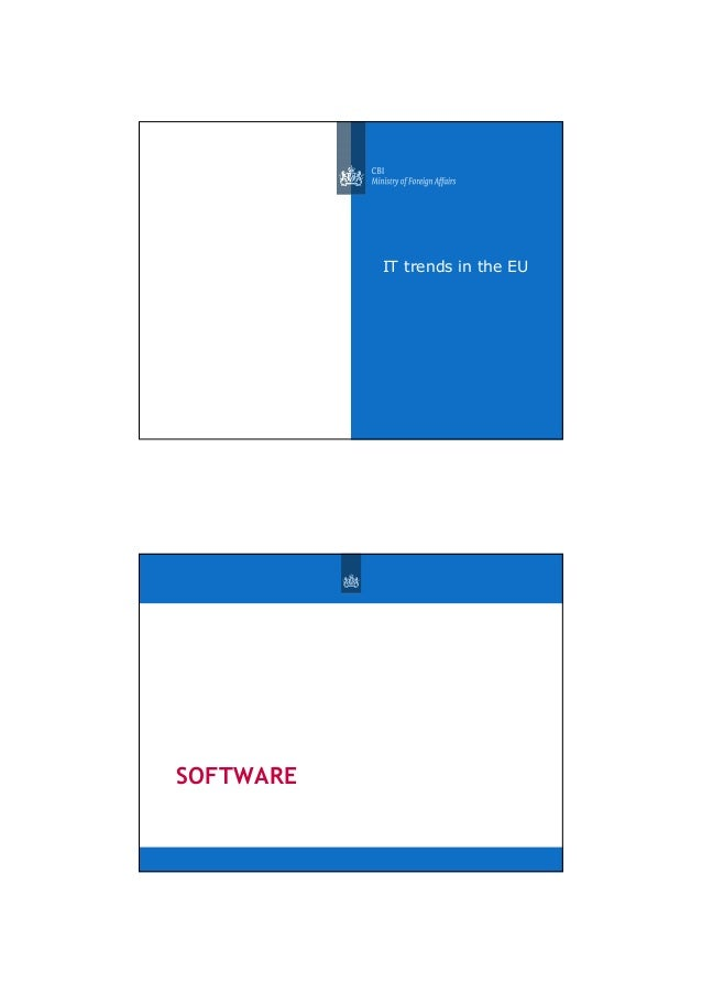 IT trends in the EU SOFTWARE