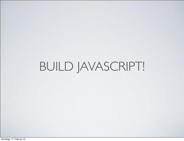 JavaScript toolchain