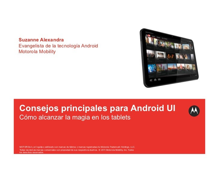 Consejos principales para Android UI Cómo alcanzar la magia en los tablets
