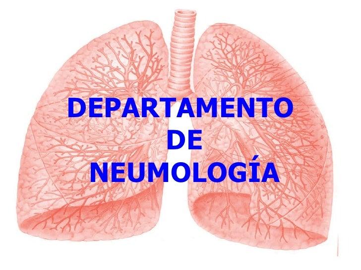 DEPARTAMENTO  DE NEUMOLOGÍA