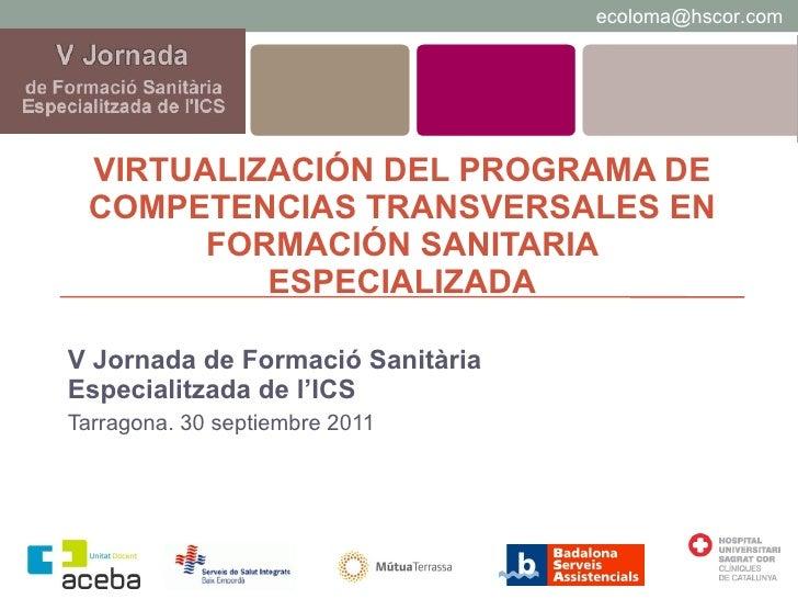Virtualización del programa de competencias transversales en formación