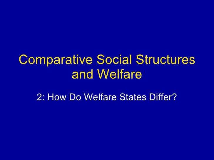 Comparative Social Structures and Welfare 2: How Do Welfare States Differ?