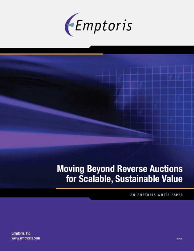 Moving Beyond Reverse Auctions for Scalable, Sustainable Value
