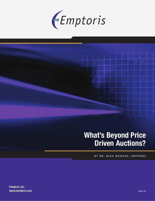What's Beyond Price Driven Auctions?