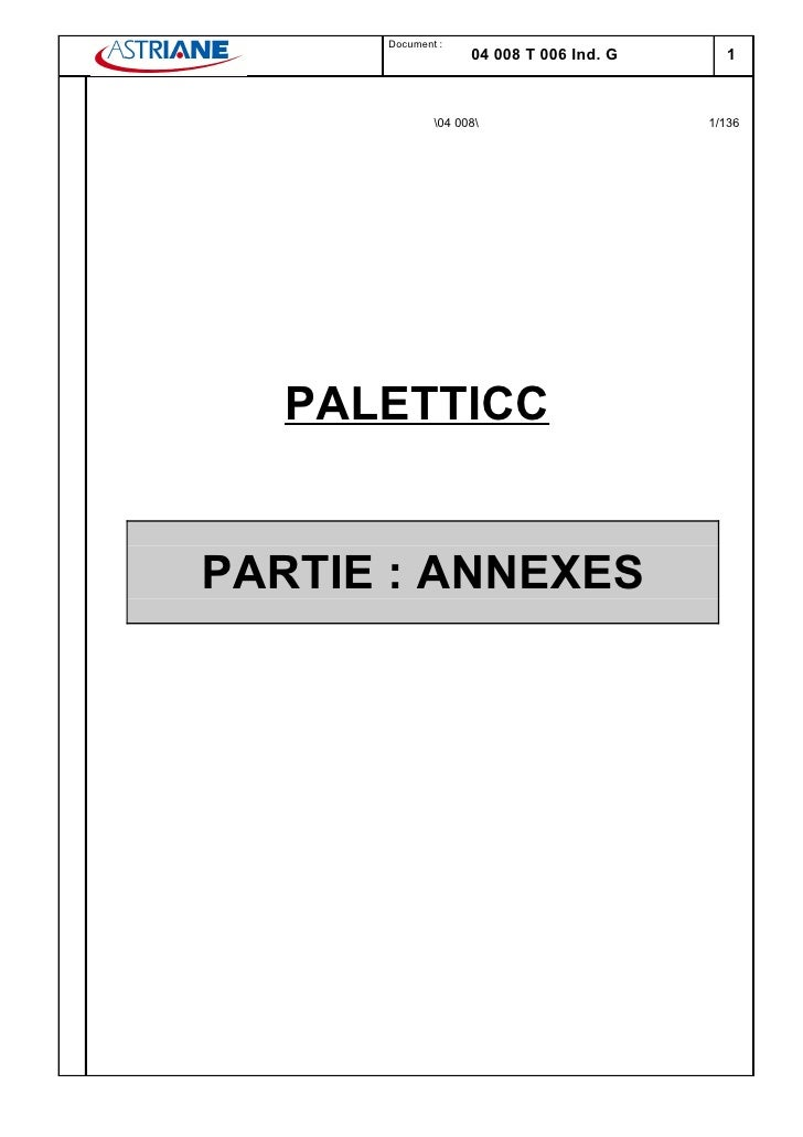 Document :                     04 008 T 006 Ind. G     1                  04 008                    1/136        PALETTICC...