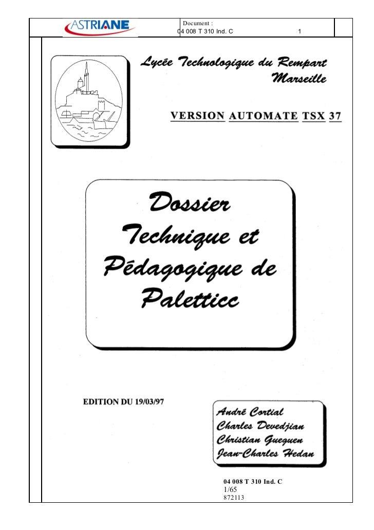 04008 T310ind C Dossier Technique PéDagogique
