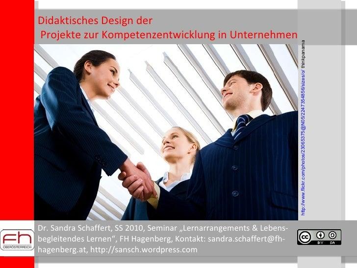 [lehre] Projektentwicklung - Didaktisches Design