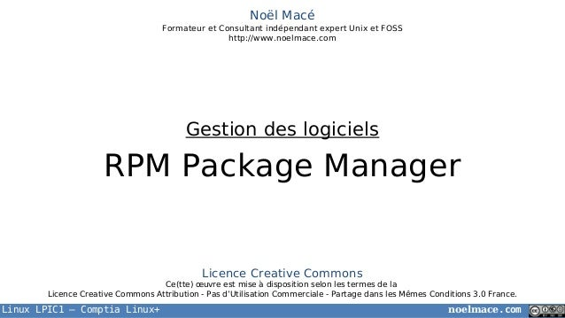 LPIC1 04 02 RPM Package Manager