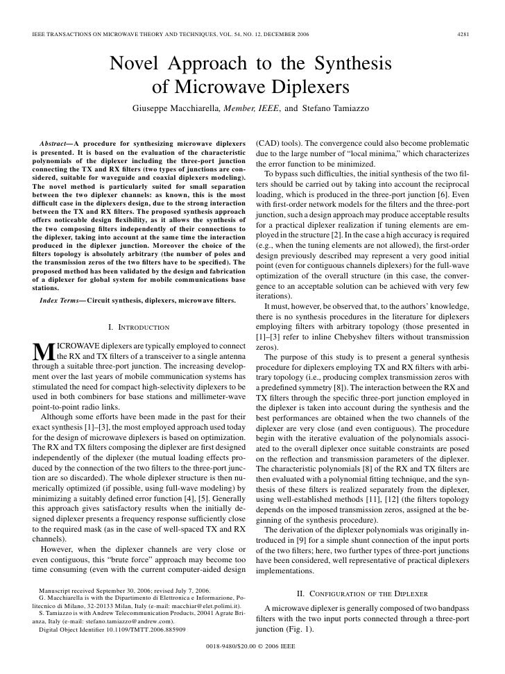 IEEE TRANSACTIONS ON MICROWAVE THEORY AND TECHNIQUES, VOL. 54, NO. 12, DECEMBER 2006                                      ...
