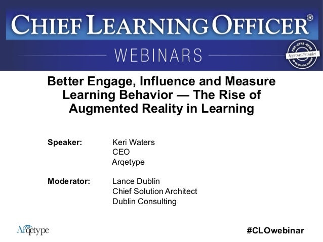Better Engage, Influence and Measure Learning Behavior — The Rise of Augmented Reality in Learning