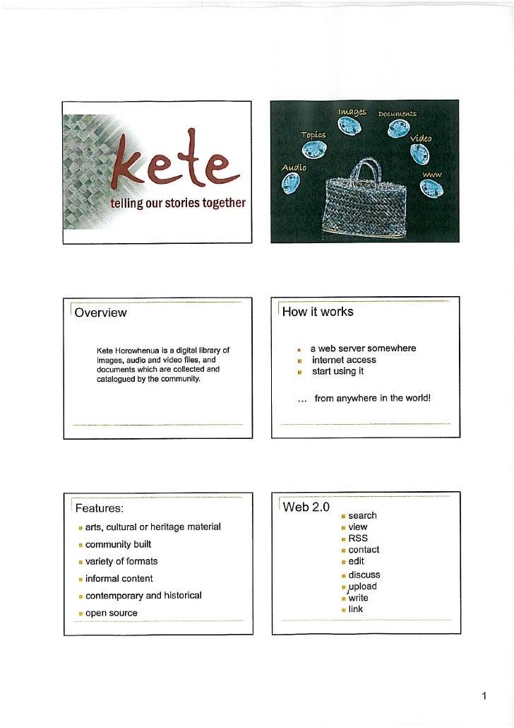 """Kete Horowhenua : community-built digital heritage"""