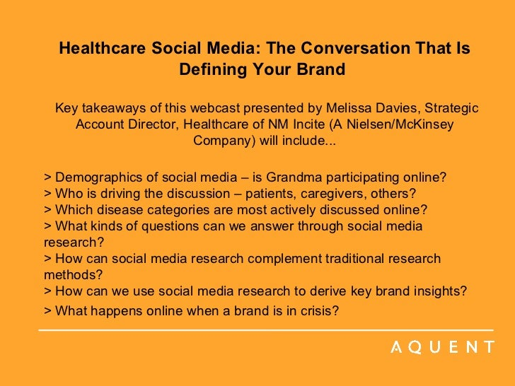 Aquent/AMA Webcast: Healthcare Social Media: The Conversation That Is Defining Your Brand