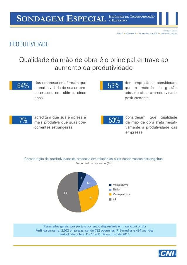 Sondagem Especial | Produtividade 12/2013 | Divulgação 04/12/2013