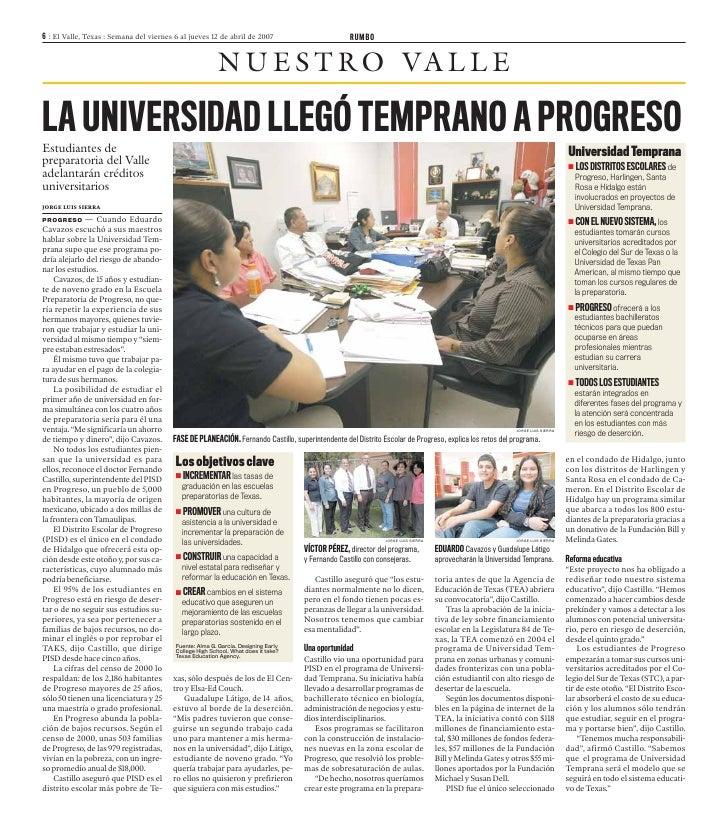 041207 La Universidad Llegó Temprano A Progreso