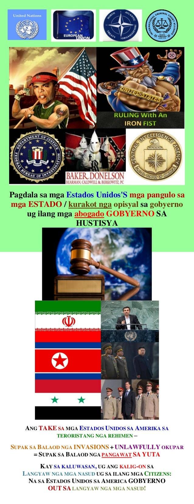 Pagdala sa mga Estados Unidos'S mga pangulo sa mga ESTADO / kurakot nga opisyal sa gobyerno ug ilang mga abogado GOBYERNO ...