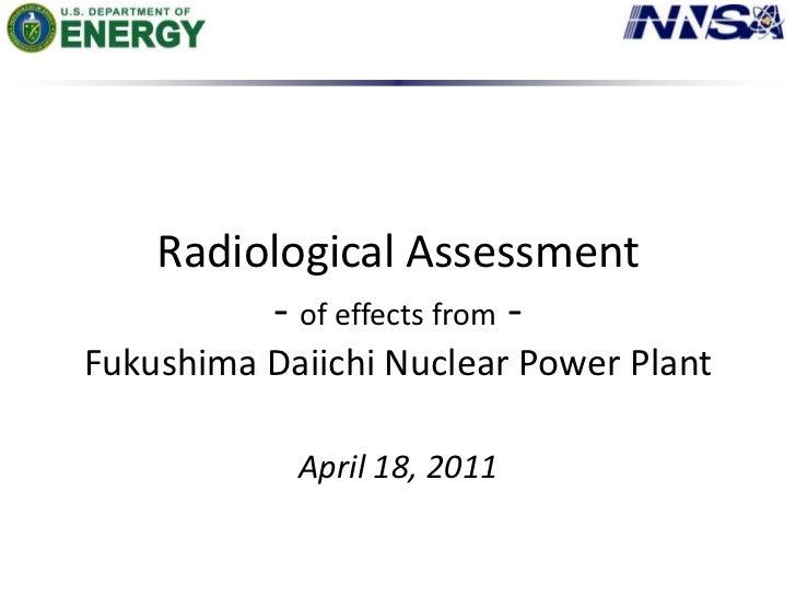 Radiation Monitoring Data from Fukushima Area 04/18/2011