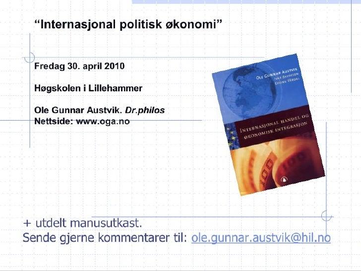 4. 1. Internasjonal politisk økonomi