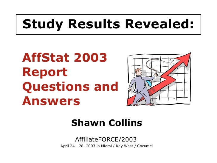 AffStat 2003 Report Questions and Answers