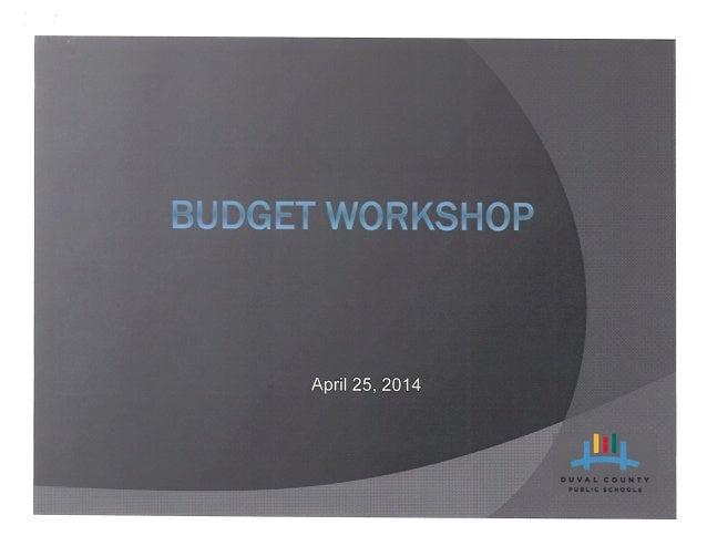 DCPS Budget Proposal Presentation April 25, 2014