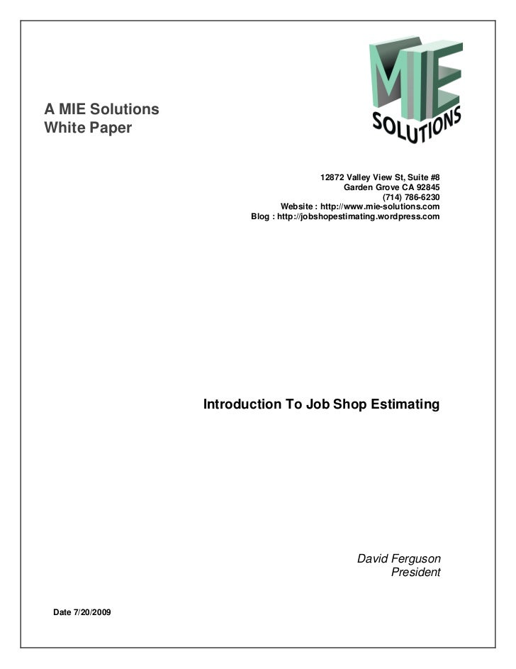 A MIE SolutionsWhite Paper                                            12872 Valley View St, Suite #8                      ...