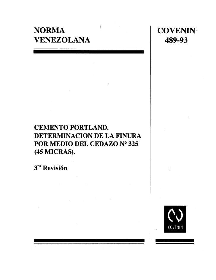 0489 1993 Norma Cemento