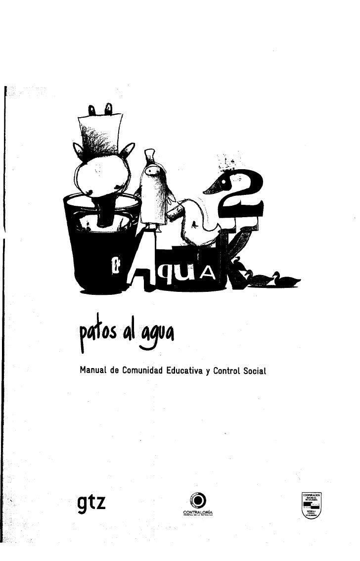 liaos 41514 Manual de Comunidad Educativa y Control Social     gtz                      CONTRALORA                        ...