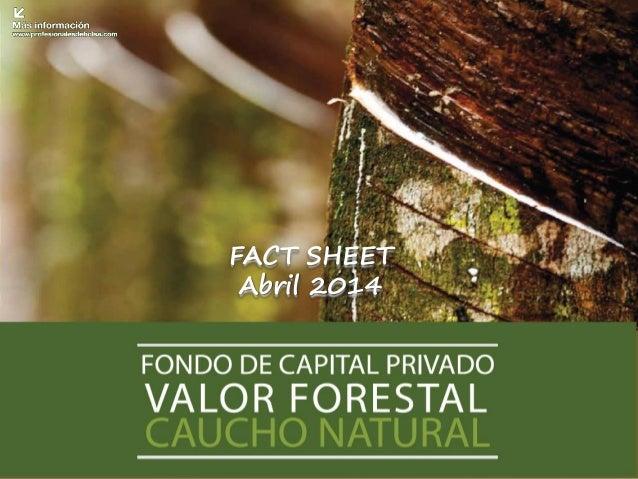 FACT SHEET Abril 2014