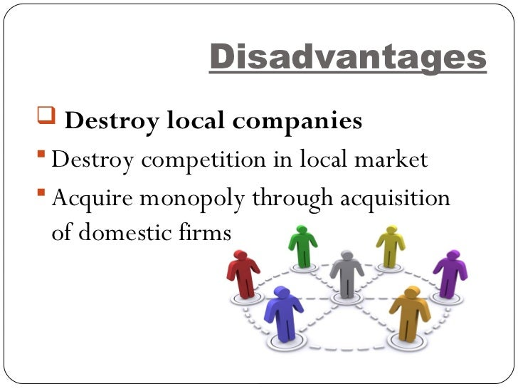 an analysis of advantages and disadvantages of trading in domestic markets and international trade Advantages and disadvantages of international to outstrip domestic profits international trade is markets exploit international trade.