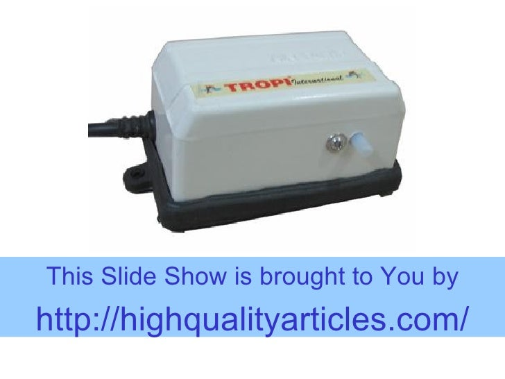 Using Aquarium Air Pumps