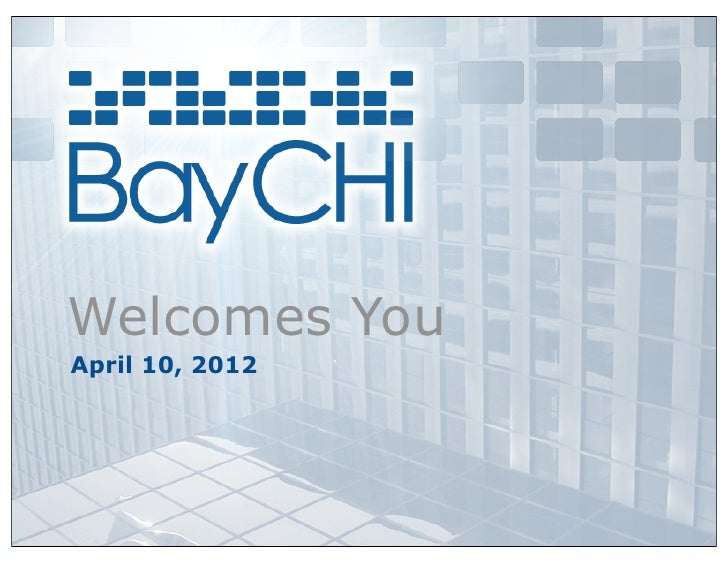 Welcomes YouApril 10, 2012