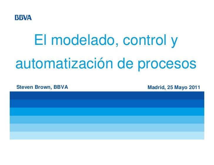El modelado y control en los procesos
