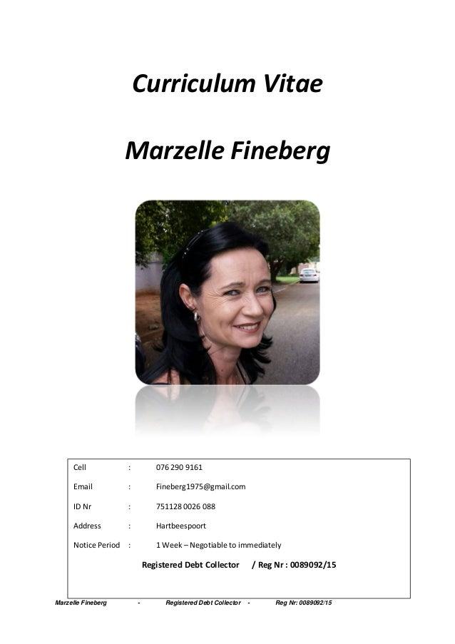 2016 cv marzelle fineberg