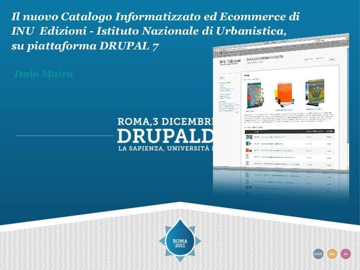 Italo Mairo Il nuovo Catalogo Informatizzato ed Ecommerce di INU  Edizioni - Istituto Nazionale di Urbanistica,  su piatta...
