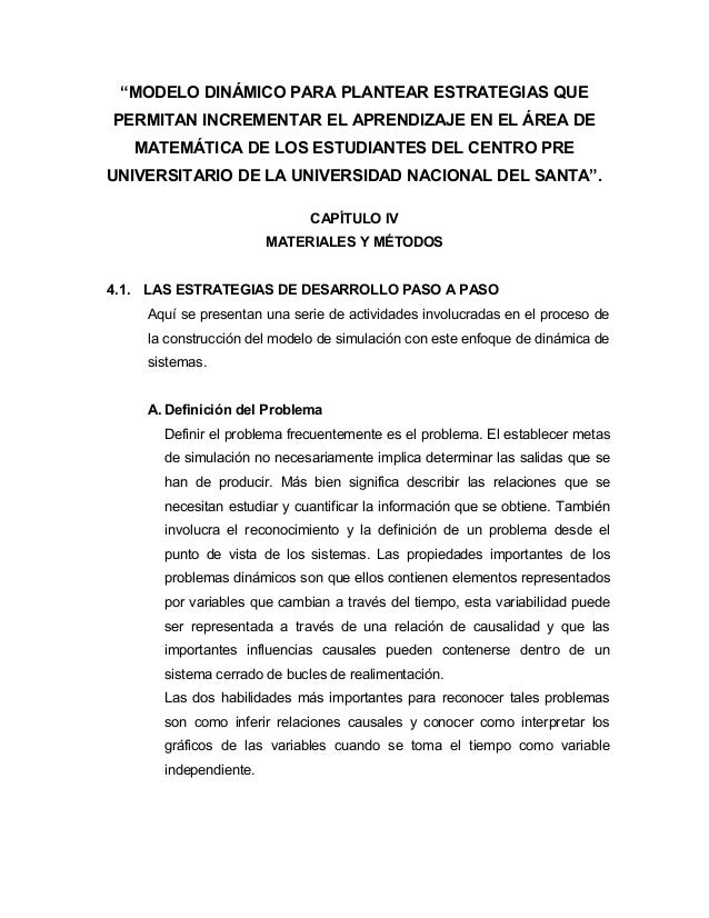 """""""MODELO DINÁMICO PARA PLANTEAR ESTRATEGIAS QUE  PERMITAN INCREMENTAR EL APRENDIZAJE EN EL ÁREA DE  MATEMÁTICA DE LOS ESTUD..."""