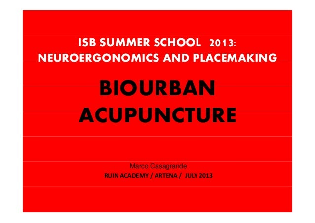 Biourban Acupuncture, by Marco Casagrande