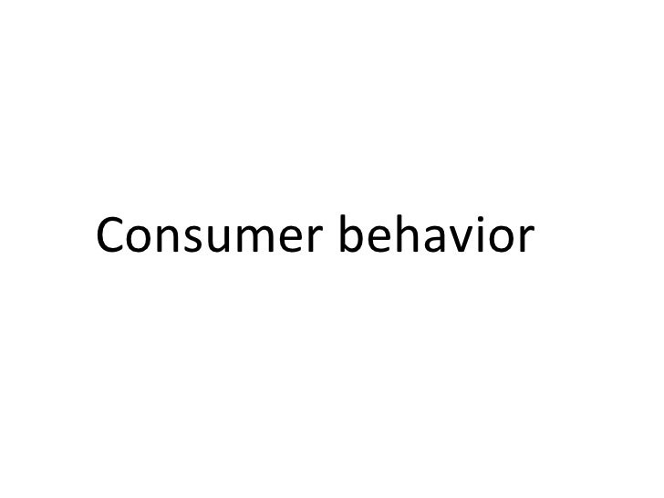 Business Economics 04 Consumer Behaviour