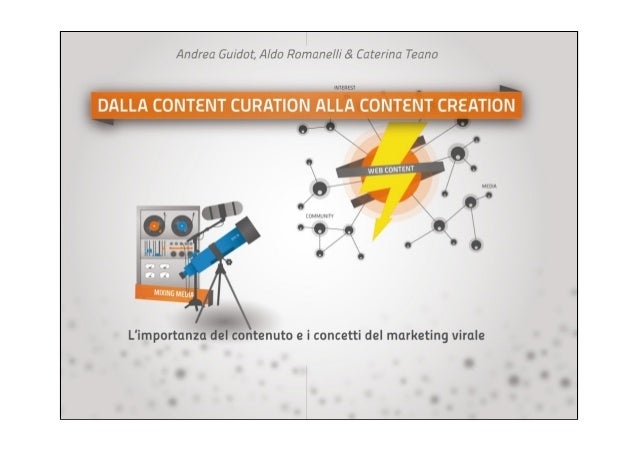 CONTENT CREATION & CURATION                copertina
