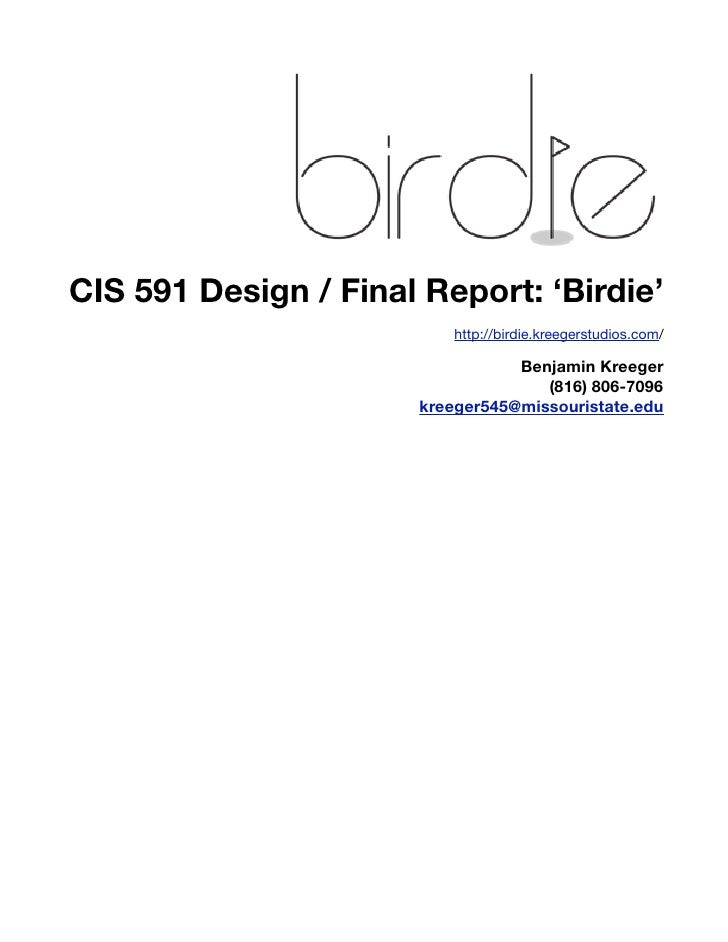Birdie Design Report