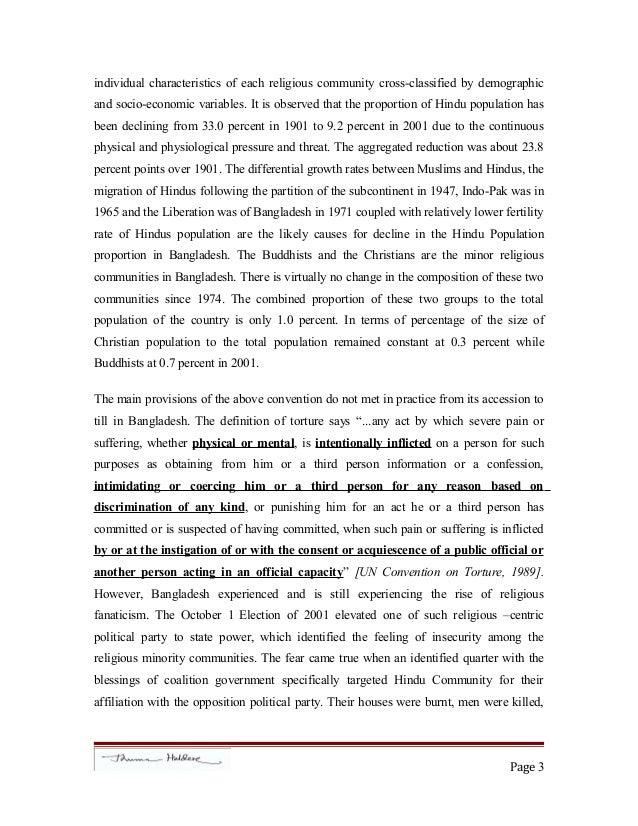 Essay against torture