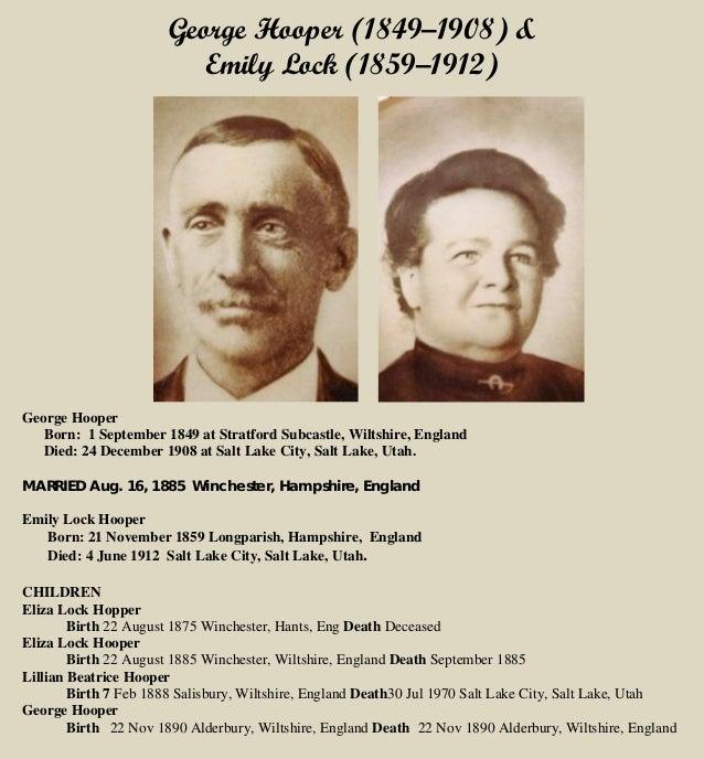 George Hooper and  Emily Lock