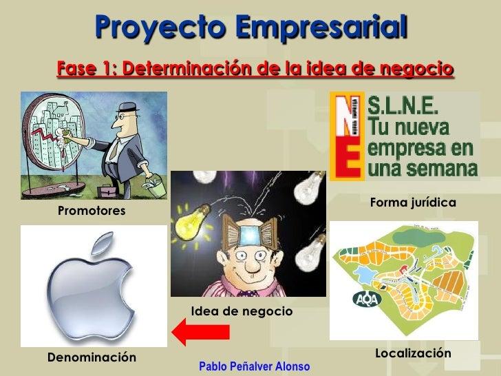 Proyecto Empresarial  Fase 1: Determinación de la idea de negocio                                             Forma jurídi...