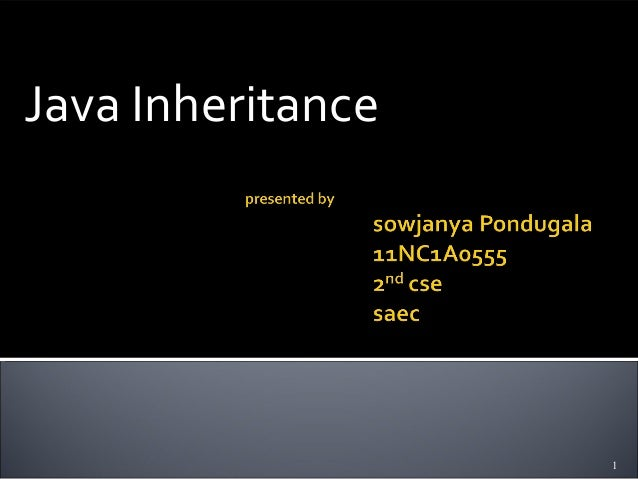 Java Inheritance                   1